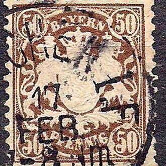 Бавария, немецкие земли, 1881 г., марка № 52
