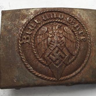 Ременная пряжка HJ (Гитлер югенд) сталь (копия)