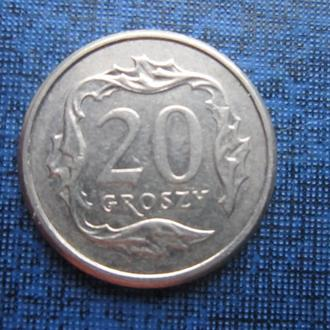 монета 20 грошей Польша 2005