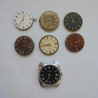 Часы ВОСТОК на запчасти 7 штук Цена за всё!!!. (№755).