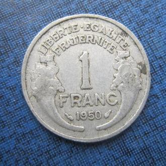 Монета 1 франк Франция 1950