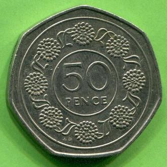 Гибралтар 50 пенсов 1988