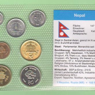 Набор монет НЕПАЛ блистер запайка пластик