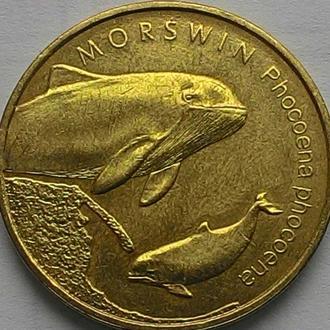 Польша 2 злотых 2004 год СОСТОЯНИЕ!!!