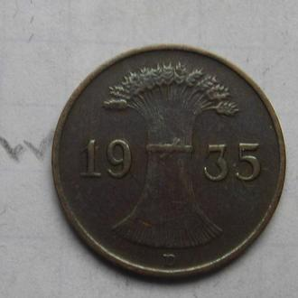 ГЕРМАНИЯ, 1 рейхспфенниг 1935 г.