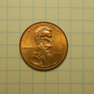 1 цент 2008 г.