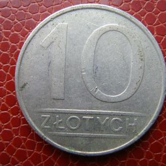 Польша 10 злотых 1987 год