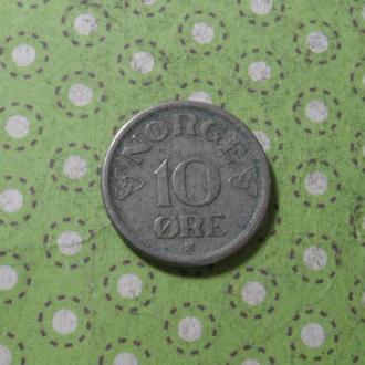 Норвегия 1952 год монета 10 эре !