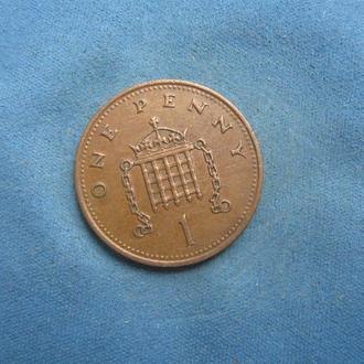 Великобритания 1 пенни 1988 год
