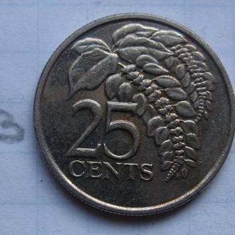 ТРИНИДАД и ТОБАГО, 25 центов 2014 года.