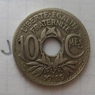 Франция, 10 сантимов 1929 года.