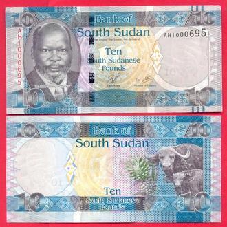 Боны Африка Судан Южный 10 фунт 2011 г.