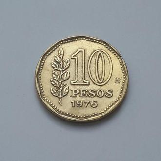 Аргентина. 10 песо 1976 год.