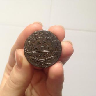 Деньга 1734 года - СОСТОЯНИЕ !!!