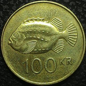 Исландия 100 крон  1995 год