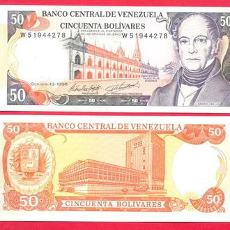 Боны Америка Венесуэла 50 боливар 1998 г