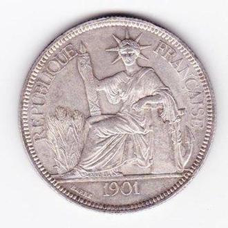 Французский Индокитай. Пиастр. 1901г.