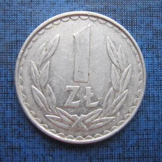 монета 1 злотый Польша 1983