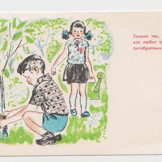 Октябрята 1967 Большакова Из серии Правила Октябрят Чистая Р8