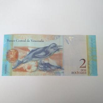 2 боливаров, Венесуела, пресс, Unc, оригинал, лот 2