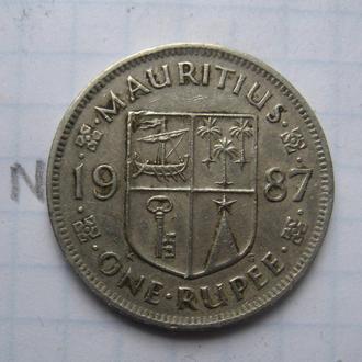 МАВРИКИЙ 1 рупия 1987 года.