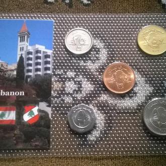Набор монет Ливан пластик блистер набір Ліван запайка
