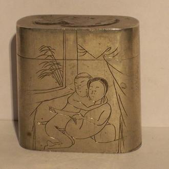 Эротика, футляр для спичек, период Мейдзи, Япония, 1880-ые