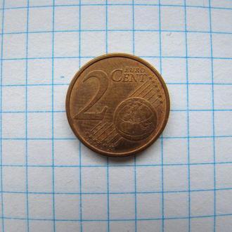 2 евроцента 2004 г. (J) Германия.