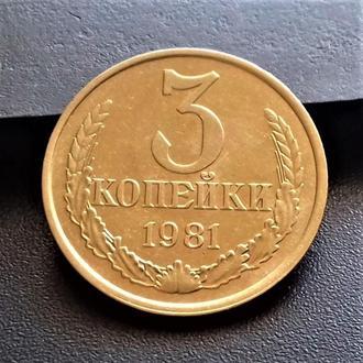MN СССР 3 копейки 1981 г.