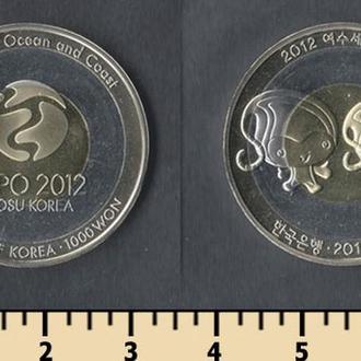 Южная Корея 1000 вон 2012