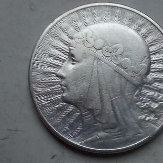 10 злотых 1933 г. Польша.Серебро.Оригинал