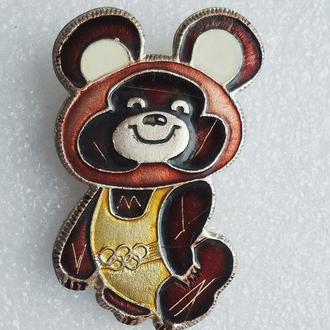 Олимпийский мишка Олимпиада спорт значок