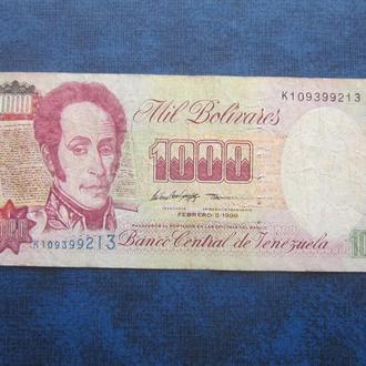 банкнота 1000 боливаров Венесуэла 1998