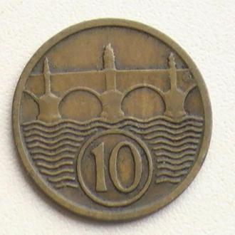 10 Гелерів 1932 р Чехословаччина 10 Геллеров 1932 г Чехословакия