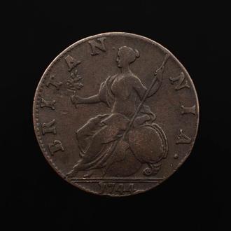 1/2 Пенни 1744 Георг ІІ,(20) Великобритания