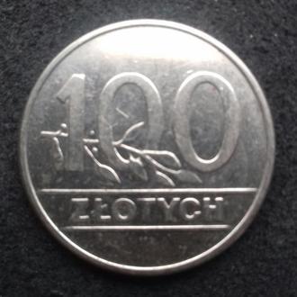 100 злотых 1990 г.