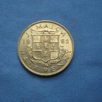 Ямайка 1/2 пенни 1962 год