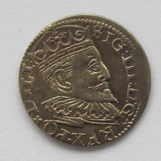 3 гроша 1596г, Сигизмунд III , г. Рига