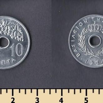 Греция 10 лепта 1954