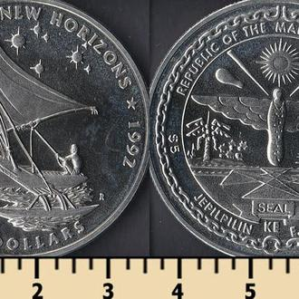 Маршалловы острова 5 долларов 1992