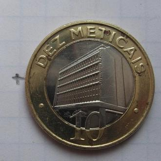 МОЗАМБИК. 10 метикас 2006 года (биметалл).