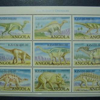 фауна дино динозавры ангола на ме  т