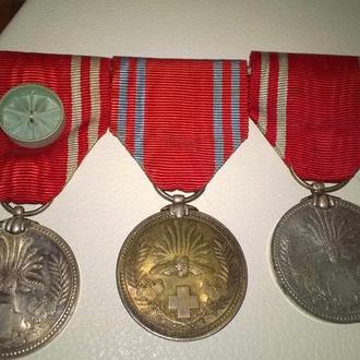 Планка медалей за ранение. Япония.