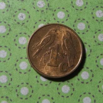 ЮАР 2001 год монета 1 цент Африка ПАР !