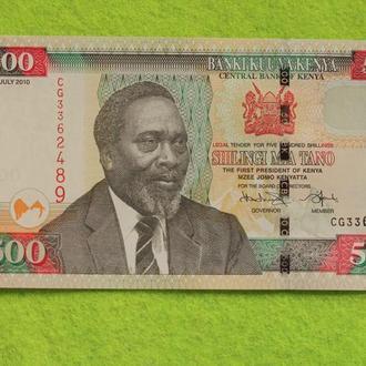 Кения 500 шиллингов 2010 UNC