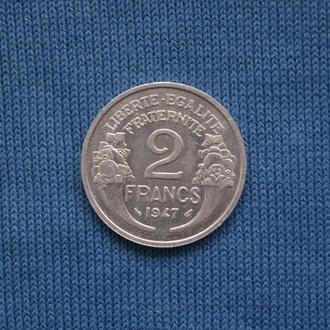 Франция  2 франка 1947 г