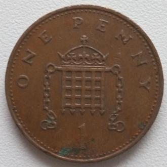 Великобритания 1 пенни, 1984