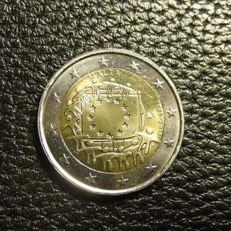2 євро 2015 Мальта UNC  Прапор ЄС