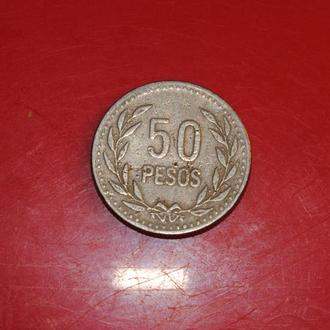 50 песо 1990 г Колумбия
