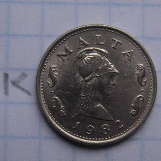 МАЛЬТА, 2 цента 1982 г.